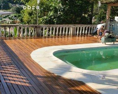 Projeto Coroa Grande RJ aplicação de óleo hidratante para Madeira
